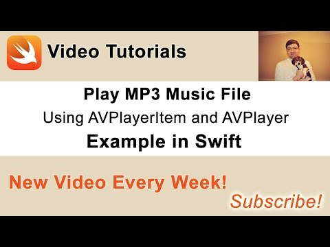 Play MP3 with AVPlayerItem and AVPlayer. Example in Swift.