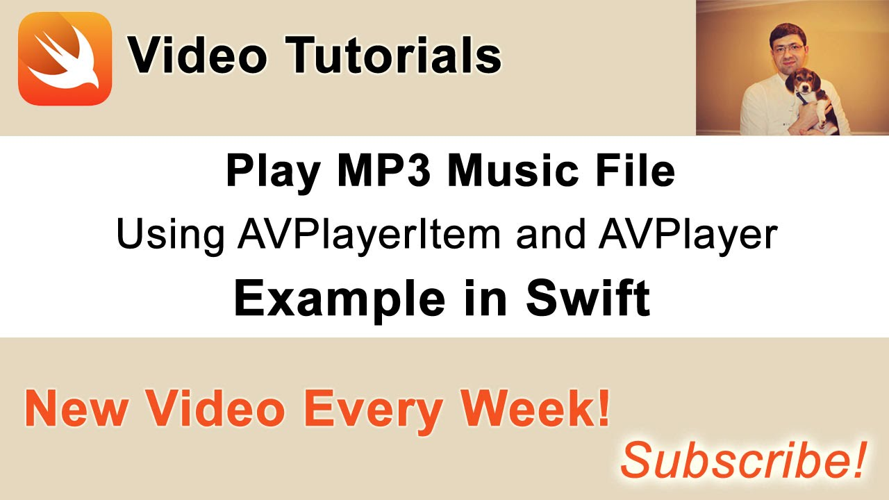 Play MP3 with AVPlayerItem and AVPlayer  Example in Swift