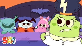 10 Monsters In The Bed   Kids Halloween Song   Super Simple Songs