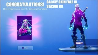 How To Get GALAXY SKIN For *FREE* In Fortnite Season 8! Galaxy Skin Free 2019!