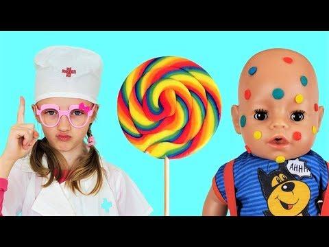 Полина и вредные сладости Поучительная история