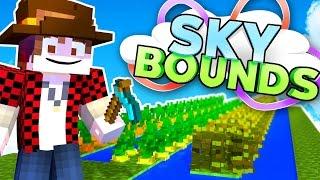 DIY FARM IDEAS FOR SKYBLOCK IN MINECRAFT! | Skybounds #21