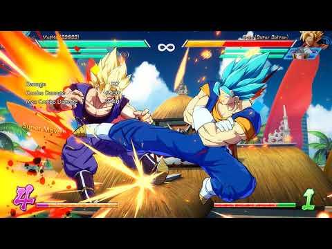 Dragon Ball Fighterz Vegito Blue solo sparking combo builds near 6 bars