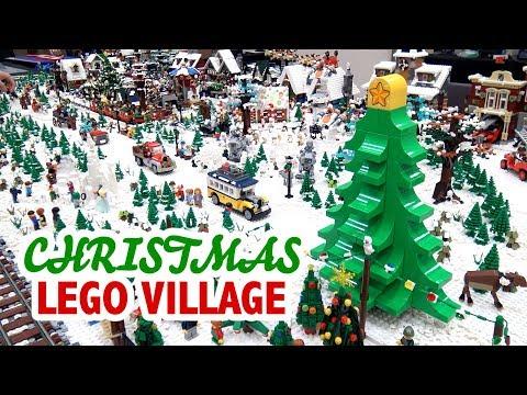 Huge LEGO Christmas Village | BrickCon 2018