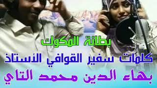 جديد الفنانه فهيمه عبدالله//بطانه المكوك كلمات ودالتاي