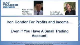 Iron Condor Options Trading Strategies by DayTradingZones | Real Traders Webinar