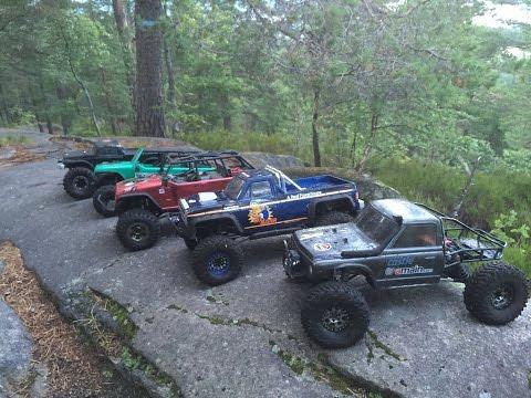 Scx10 vs Scx10 rc offroad mountain crawl challenge, rc adventure Vardåsen, Asker, Norway