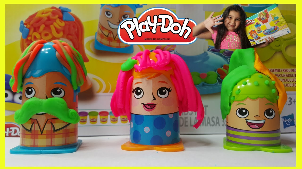 Play-Doh Crazy Cuts Hair Design your own hairstyle /what would you ...