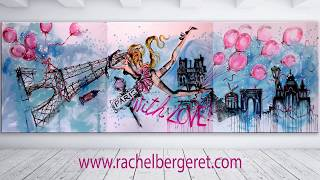 LIVE PAINTING Paris is Love