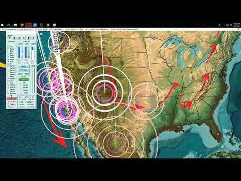 12/09/2017 -- Colorado Earthquake swarm near Volcano + Pumping operations -- Pressure transfers East