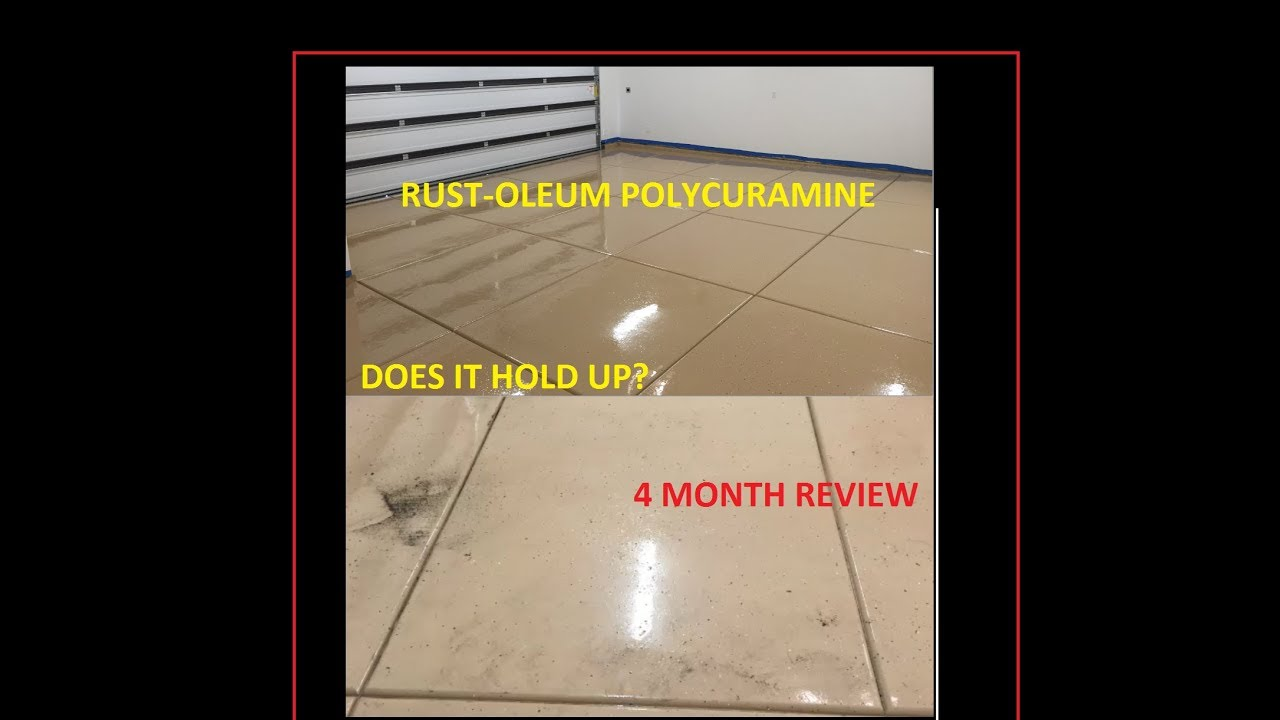 Does It Hold Up Polycuramine Floor Coating Rust Oleum 4 Month Review Rock Solid