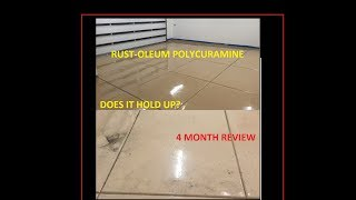 Does it hold up? Polycuramine Floor coating Rust-Oleum 4 month REVIEW. Rock Solid