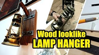HOW TO MAKE AN OLD WOOD LOOK LIKE LAMP HANGER WITH FOREX SHEET