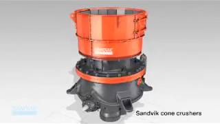 Sandvik Construction cone crushers animation