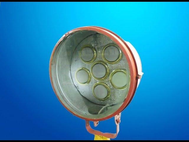 Классная идея для мастерской! Капитальная переделка энергоёмкого прожектора!
