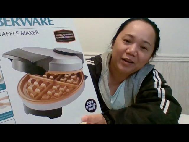 Farberware Copper Non-stick Waffle Maker Unboxing