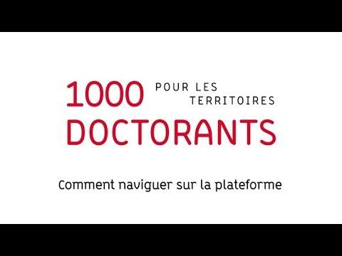 Vidéo Instit - 1000 doctorants pour les territoires