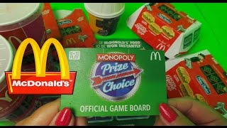 20 X McDonald's Monopoly PRIZE CHOICE Stickers opening SWAP HERE
