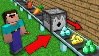 Minecraft NOOB vs PRO: HOW THIS DISPENSER TURN ANY ITEMS NOOB INTO TREASURE? Challenge 100% trolling