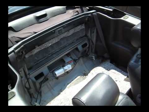 1999 Mustang Gt Fuse Box Refilling My Sebring Convertible Hydraulic Top Pump Youtube