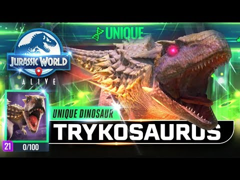TRYKOSAURUS KING OF TYRANNOSAURUS UNIQUE UNLOCKED! 【Jurassic World Alive 侏羅紀世界Alive】
