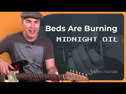 How to play Beds Are Burning by Midnight Oil - Guitar Lesson Tutorial Classic Aussie Rock SB-508