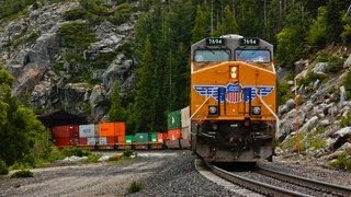 Union Pacific Trains During Donner Pass Storm