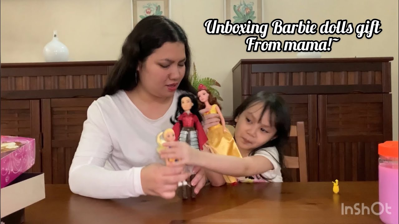 Unboxing the Barbie reveal & Barbie princess gift by Mama! like Nastya & Diana