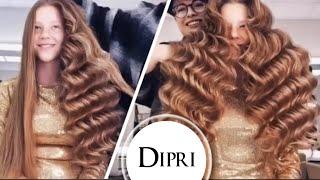 🔥Голливудские 3d волны   Прическа на длинные волосы   Hairstyle for long hair