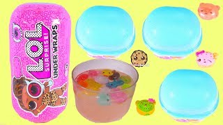 LOL Surprise Under Wraps + Num Noms Snow Cones Blind Bag Cups Video
