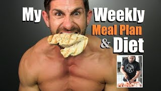 Get LEAN & Build MUSCLE Diet Plan | My Weekly Meal Plan & Prep | Alpha M. Diet VLOG