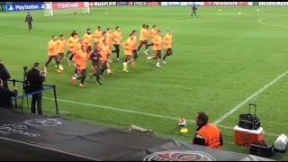 FC Shakhtar before game against Malmo FF