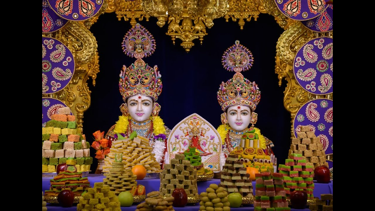 Diwali annakut celebration 2015 toronto canada youtube for Annakut decoration ideas