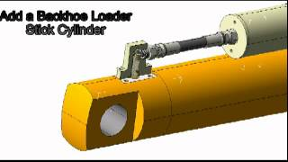 Installation demonstration of SL0390 / SL1200 Linear Sensor on Hydraulic Cylinder with Clevis