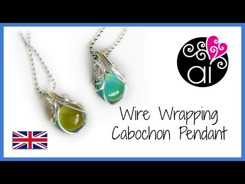 Square wire wrapped jewelry wire wrapping cabochon pendant wire wrapping basis tutorial square wires eng aloadofball Choice Image