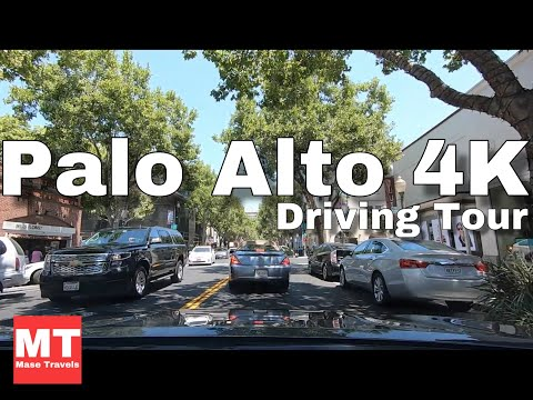 Palo Alto - Downtown Drive - California USA - Silicon Valley 🏆