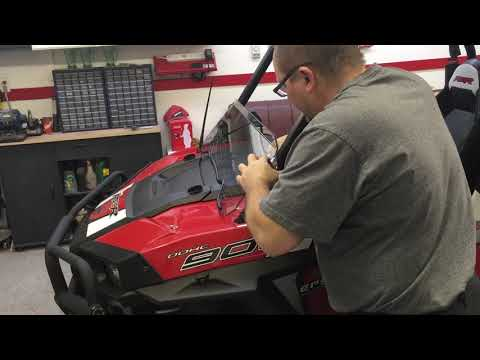 UTV Giant Half Windshield Install and Review on Polaris RZR 900