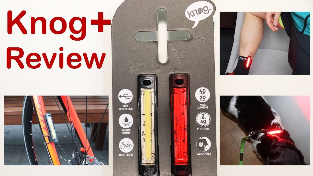 Knog Plus Wearable Lights Review Bike Run Dog Youtube