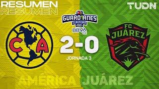 Resumen y goles | América 2-0 Juárez | Torneo Guard1anes 2021 BBVA MX - J3 | TUDN