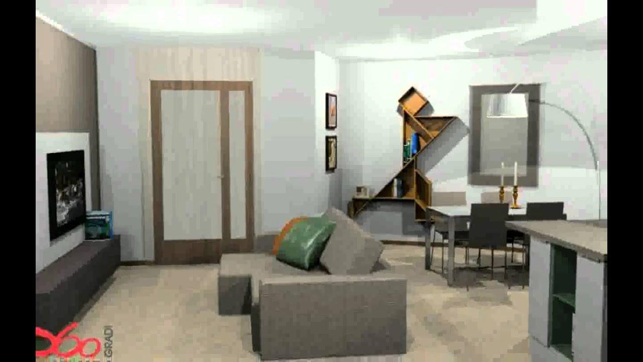 arredare open space cucina soggiorno immagini - youtube - Cucina E Soggiorno Unico Ambiente Piccolo