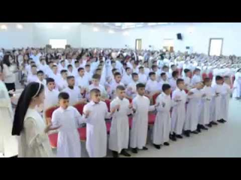 the Lord's prayer in Aramaic by first communicants