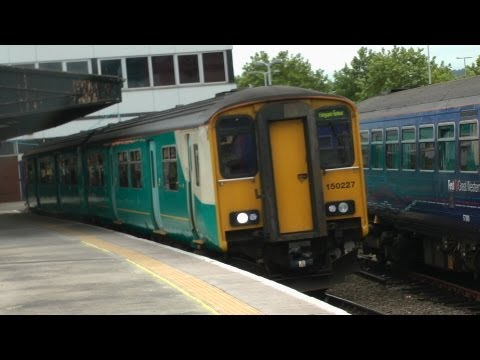 Arriva Trains Wales 150227 Departs Gloucester For Fishguard Harbour