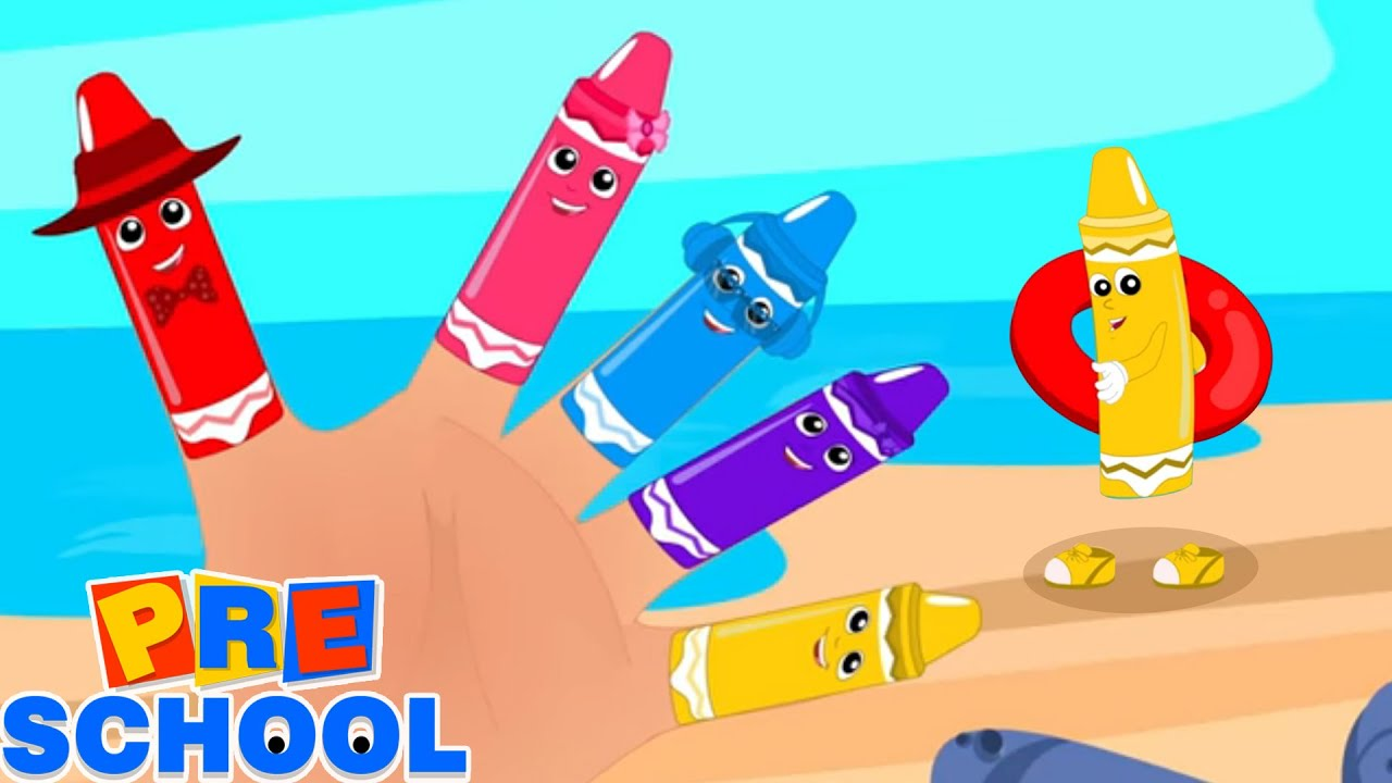 Crayons Finger Family | Nursery Rhymes and Baby Songs | Crayons Colors Song | Preschool Videos