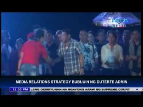 Media relations strategy bubuuin ng Duterte Administration