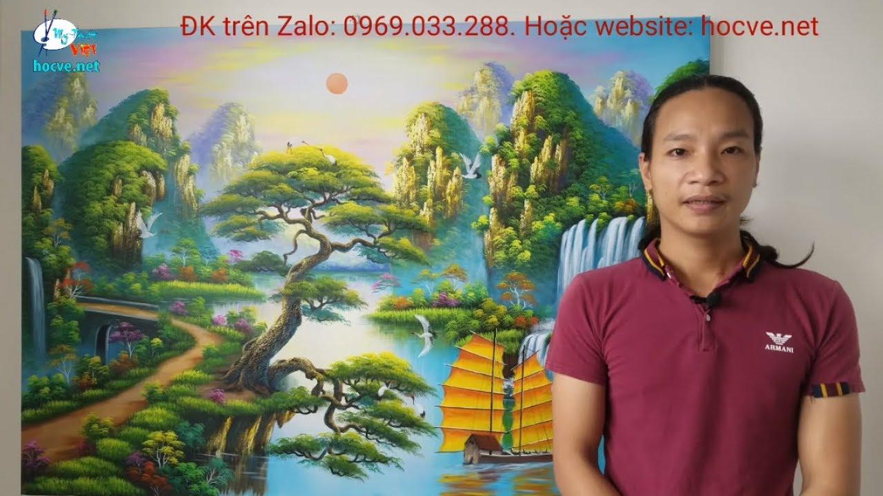 Học vẽ tranh tường online, do trung tâm Mỹ Thuật Việt phát hành, Xem giá khóa học link bên dưới
