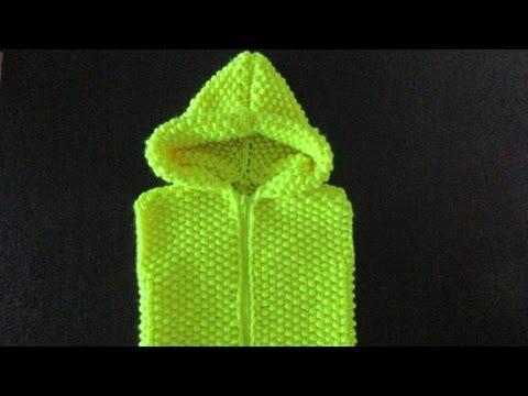 детская безрукавка с капюшоном спицами Youtube