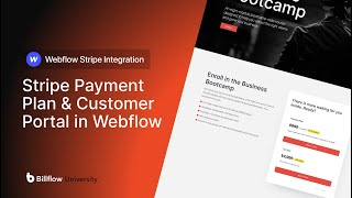 How to Add Stŗipe Payment Plans & Customer Portal in Webflow