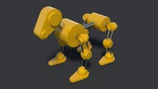 Анимация робота-собаки (часть №1)