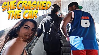 Video SHE CRASHED INTO NATES CAR!! HOLY CRAP! FT NATE & CHINO download MP3, 3GP, MP4, WEBM, AVI, FLV Mei 2018