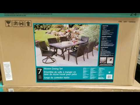 costco!-agio-7-piece-woven-dining-set-w/-tile-tabletop!-$899!!!
